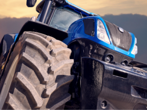tractor voorkant blauw